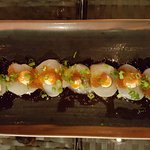Scallops, Flying Fish Roe, Scallions, and Aoili
