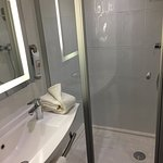 Small shower stall but good overall