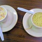 cafe's corn chowder soup
