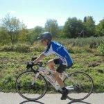 David aged 12 enjoying biking in Italy
