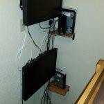 je Etage ein TV