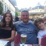 Family selfie at the restaurant