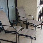 Upgraded furniture on the veranda