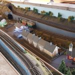 The little model railway at Brecon Mountain Railway's main station.
