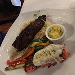 NY strip with lobster tail