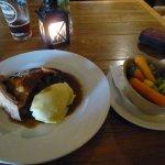Huge wedge of Steak and Ale pie!