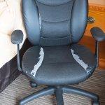 Very worn desk chair
