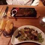 Steak and cabbage & mushroom side