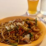 Grilled Shrimp Veggies and Noodles