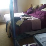 Comfortable double bed and two bunks