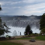 View of Dam from Roof of Visitors Center