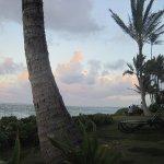 Beach area at dusk