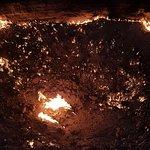 El cráter ardiente.