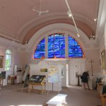 Inside the church - back