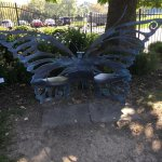 Butterfly benches and bricks