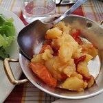 Patate e peperoni al tegame