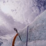 Ice climbing on Root Glacier