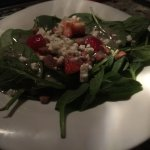 October 1 2017: Spinach Artichoke Cheese fondue; Strawberry Pecan salad; Good Earth Vegetarian f