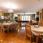Great room / kitchen (and main dining room) - three tables to choose from