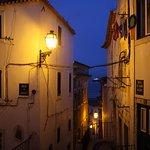 Alfama neighborhood at dusk