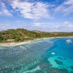 An ariel shot of Nanuya Island Resort