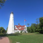 North Point lighthouse in Lake Park, another stop on the Untapped Tour