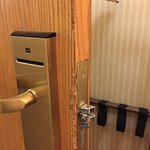 The door that was jimmied. Hotel won't comp our room!!!!