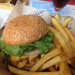 """Foothills Food Truck Footsbills Burger with tallow fries ($12) at Hi Wire """"Big Top"""" in Biltmore"""