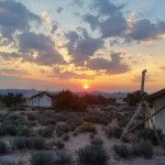 Sunrise over Arches National Park from Under Canvas Moab