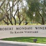 Robert Mondavi Winery entry sign