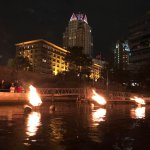 Water fire display.