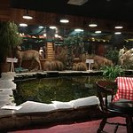 Even a pond in the Restaurant