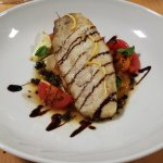 Panfried Marked Fish with cherry tomato, bocconcini, basil & balsamic