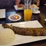 Churrasco with Rice and Red Beans
