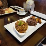 Ropa Vieja with Black Congri Rice and Plantains