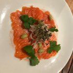 The salmon dish was a special so I'm not sure what its called but it was like a salmon carpaccio