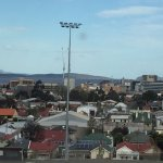Looking from our room towards Hobart CBD