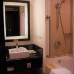 Each private bathroom comes with free toiletries, walk in shower and bath tub (for Premier Suite