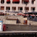 Le resto vu du port,depart ballade en bateau