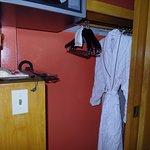 2nd bathrobe in closet. also had umbrella in closet