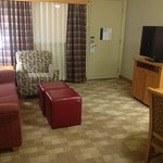 Suite with TV set