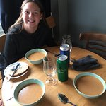 Last dinner in Iceland - delicious all you can eat lobster soup.