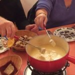 The Fondue at Veltliner Keller (St. Moritz)