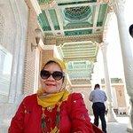 Ornamen indah dari plafon kompleks Mausoleum Imam AL. Bukhari, Samarkand