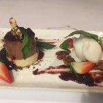 Dessert - Black forest Panna Cotta