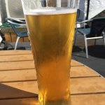 Non Cornish beer...Peroni...lol