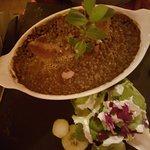 lentilles vertes figatelli et saucisse