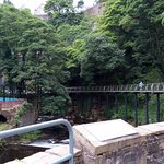 Was standing before the Rock Mills and took this view of the Millennium walkway from