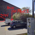 Alternate pay parking to Wilson car park, in relation to rear entrance of back of hotel