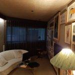 Lounge end of meandering room